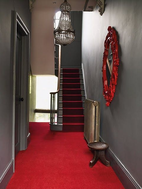 Best Red This Is Stunning Stylish Interiors Black Stairs 400 x 300