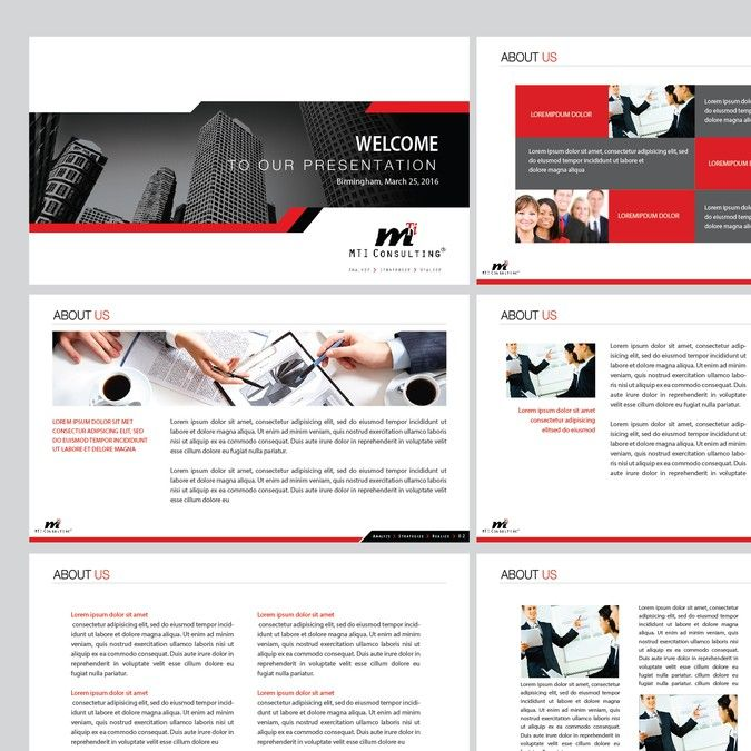 Need Simple Powerpoint Template For Consulting Company By Hendrafi