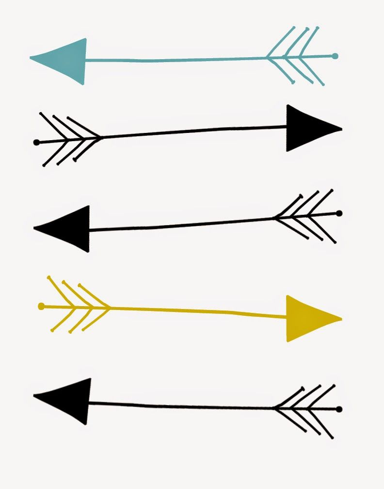image relating to Printable Arrows identified as Residing with Lexie: Shot In the course of The ArtFREE Arrow Print