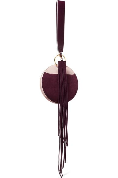 Scaffolding Fringed Suede Keychain - Burgundy Diane Von F rrMADfki