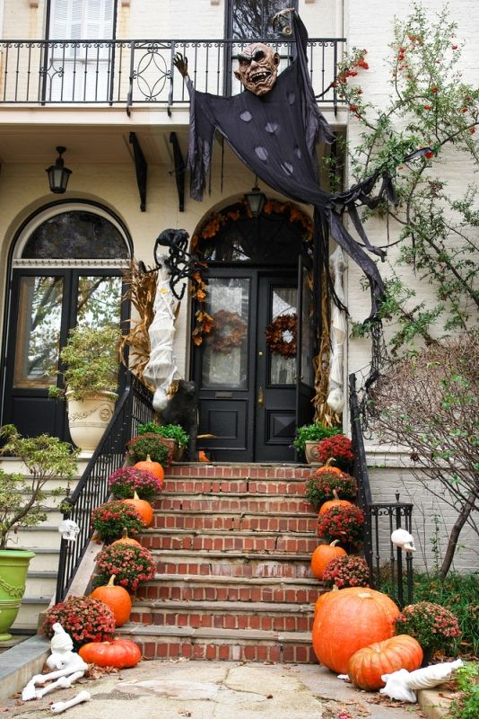 25 homemade outdoor halloween decorations ideas