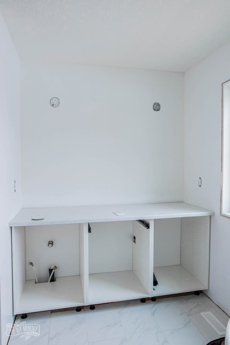 Photo of Hacking Ikea Kitchen Cabinets for a Bathroom Vanity | 2019 Spring ORC Week 2 | The DIY Mommy