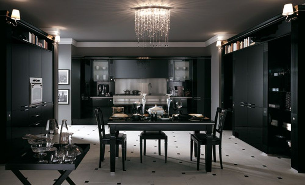 Gorgeous Kitchens with Black Appliances Include How