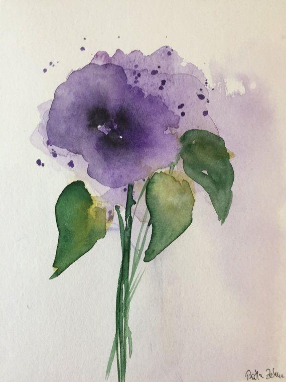 Art Watercolor Watercolor Art Abstract Flower Painting Picture