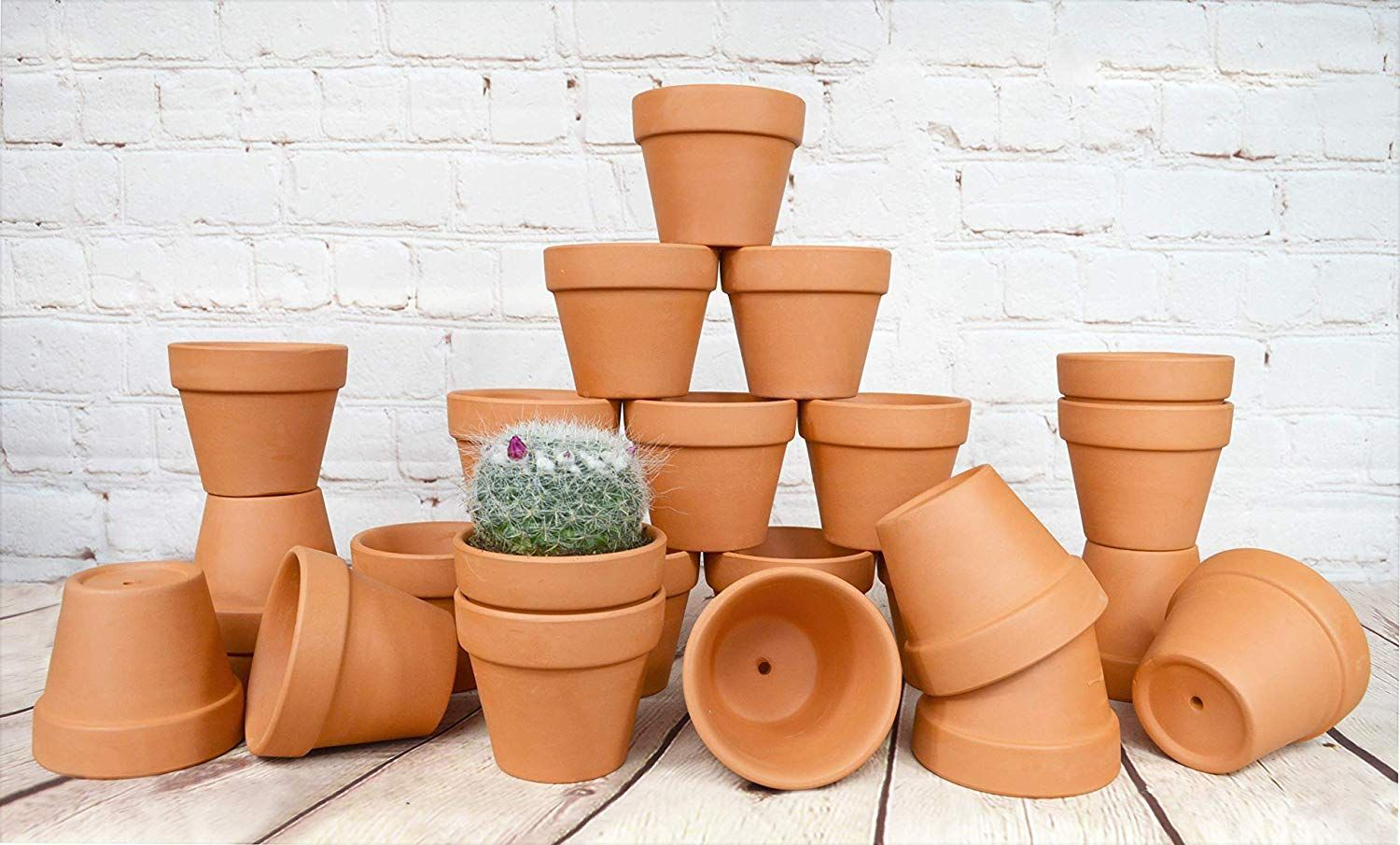 My Urban Crafts 24 Pcs Small Terra Cotta Pots 2 5 X 3 Inch Mini Flower Clay Pots With Drainage Hole Ceramic Pottery Nursery Terracotta Planter For Succulent Cac In 2020 Small