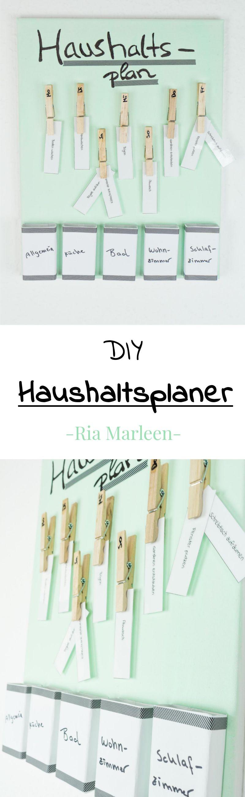 diy haushaltsplaner selber machen einfache haushaltsorganisation haushalt organisieren. Black Bedroom Furniture Sets. Home Design Ideas