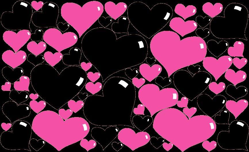Purple And Black Hearts Wallpaper: Black And Purple Hearts