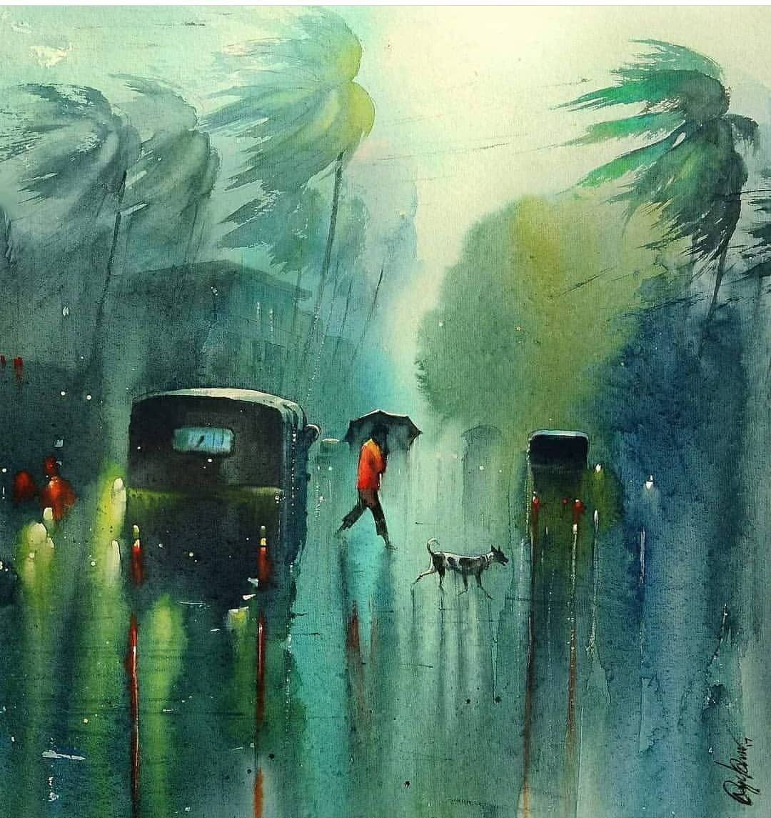 Watercolor By Nades Prabou Art Artist Artwork Aquar