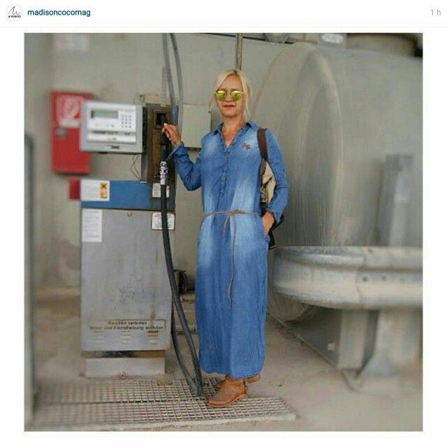 #repost madisoncoco #jeanskleid