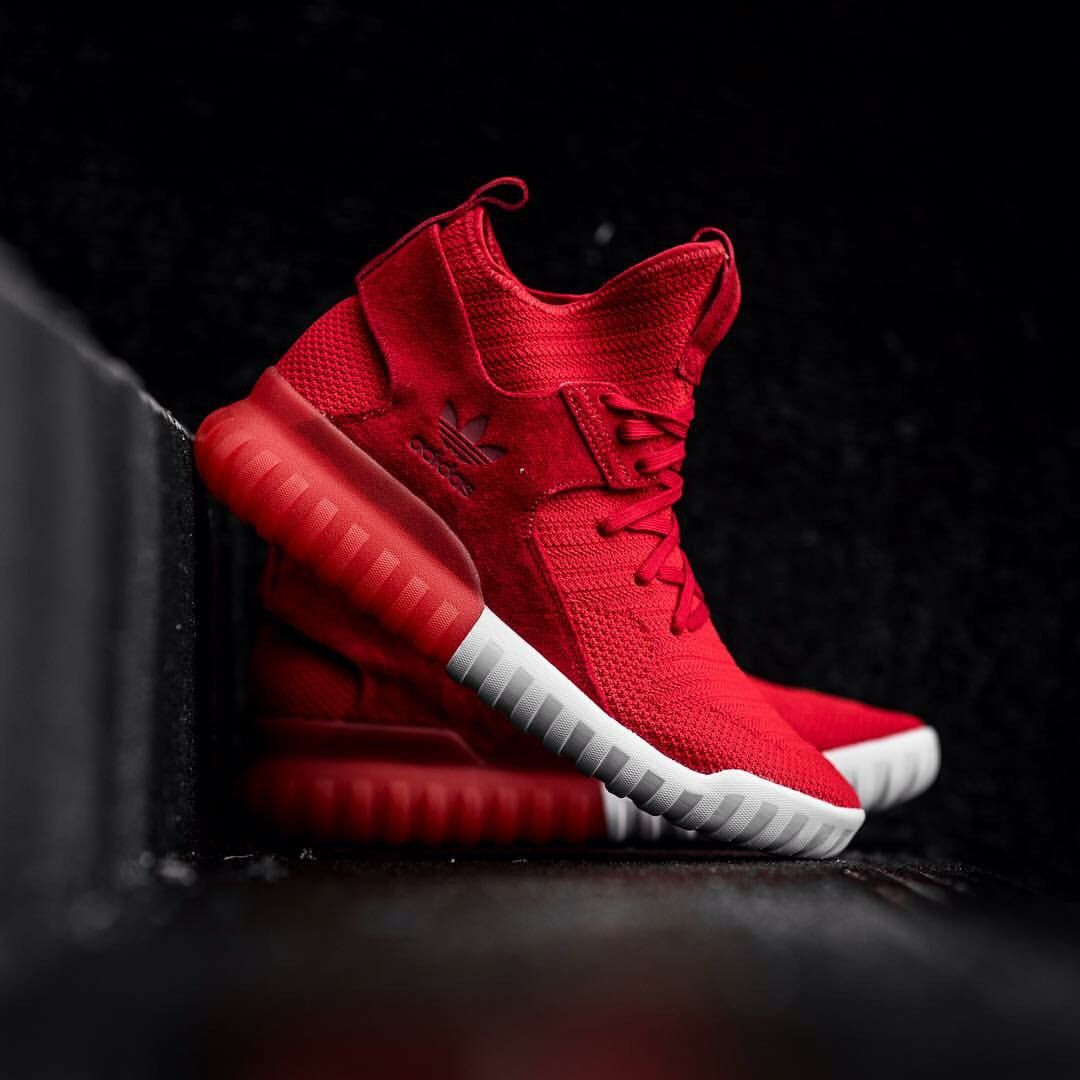 new concept 51d31 8e47d adidas Originals Tubular X Primeknit: Red | Sundar in 2019 ...