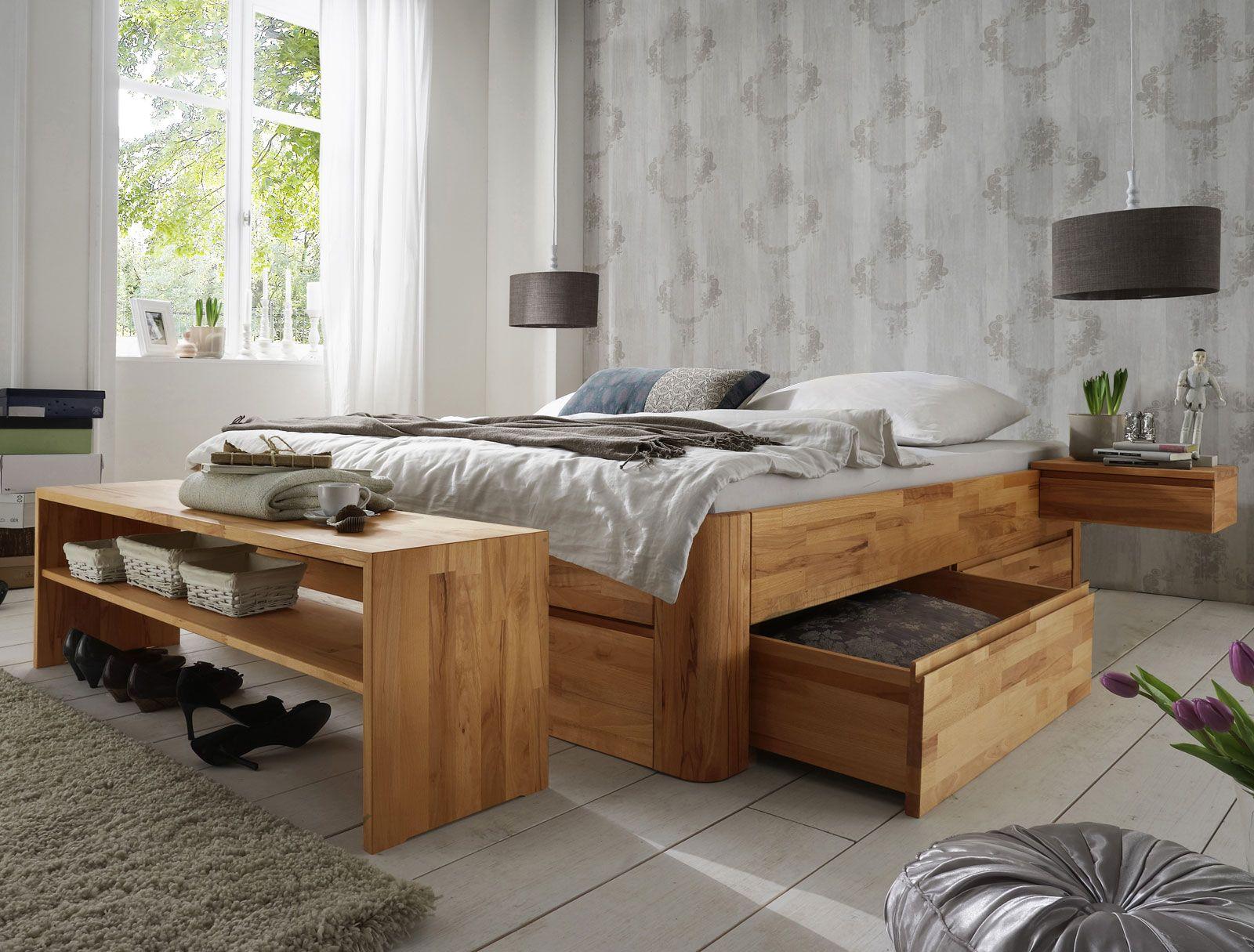 """massivholz-liege """"zarbo"""" mit viel stauraum durch schubladen aus, Schlafzimmer"""