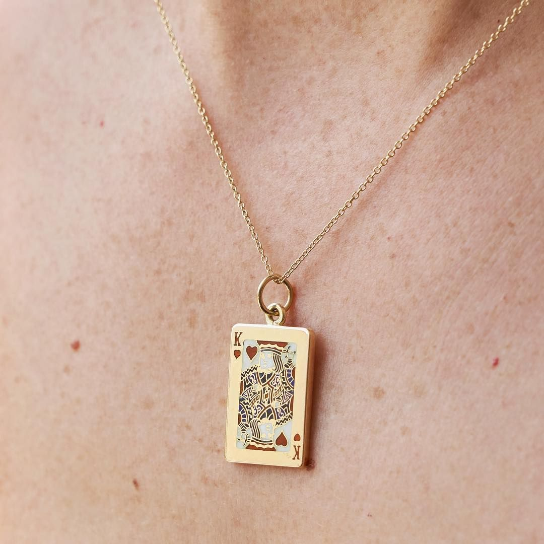 Antique heart pendant and chain on original card