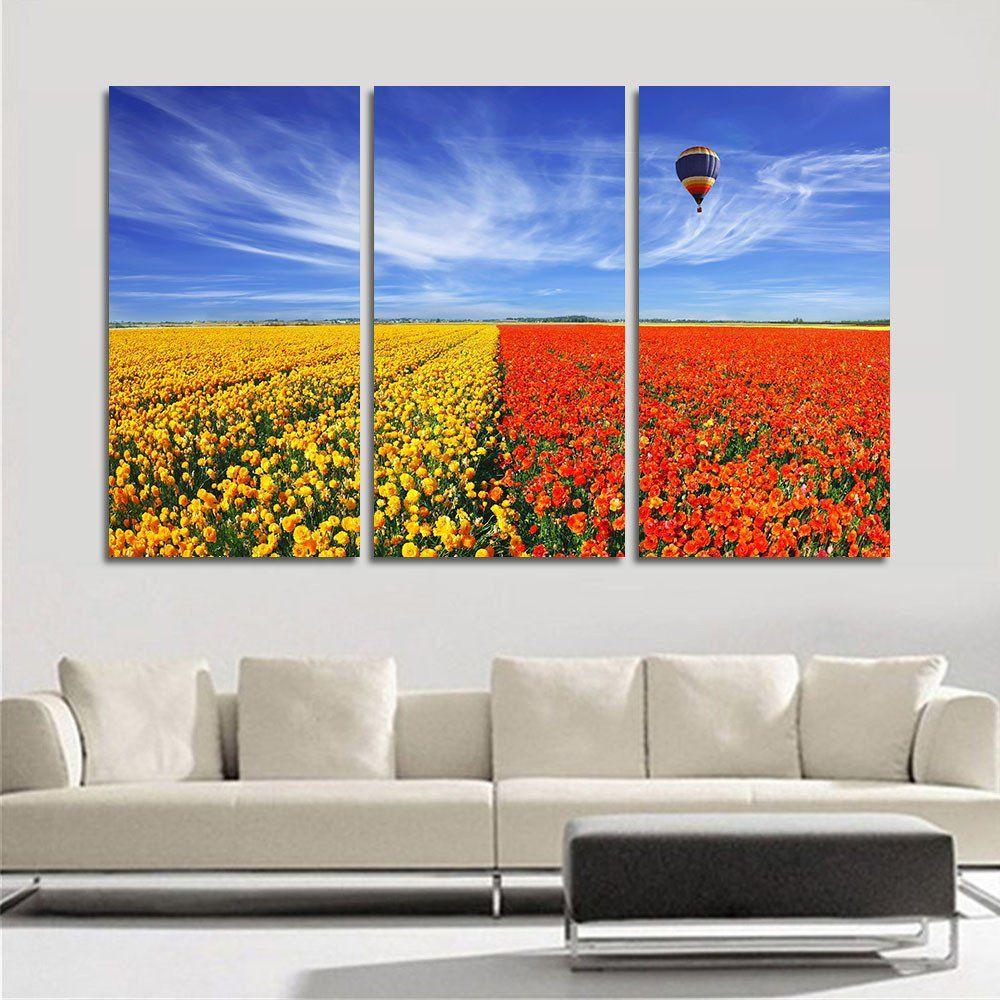 Modern Art Paintings For Living Room Canvas Painting Unframed Flower Wall Pictures For Living Room Hd