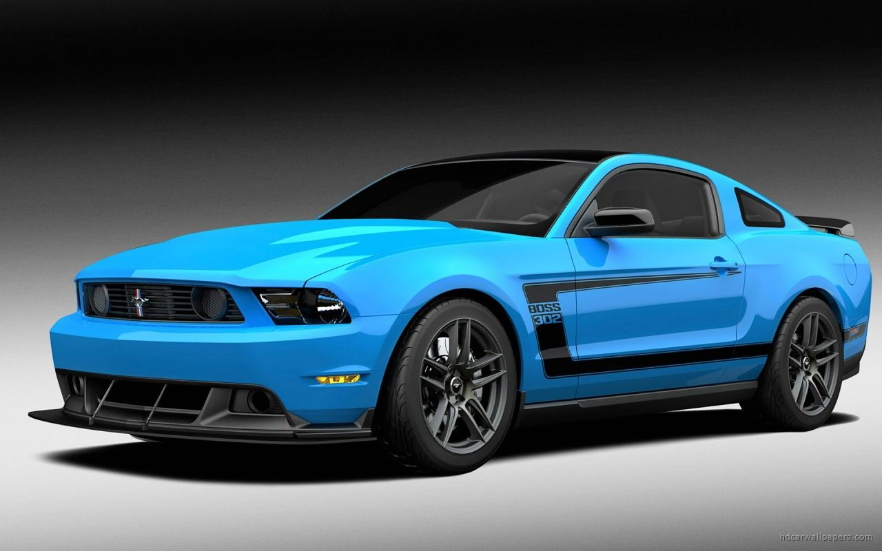 Soft Blue Ford Mustang Boss Wallpaper Ford