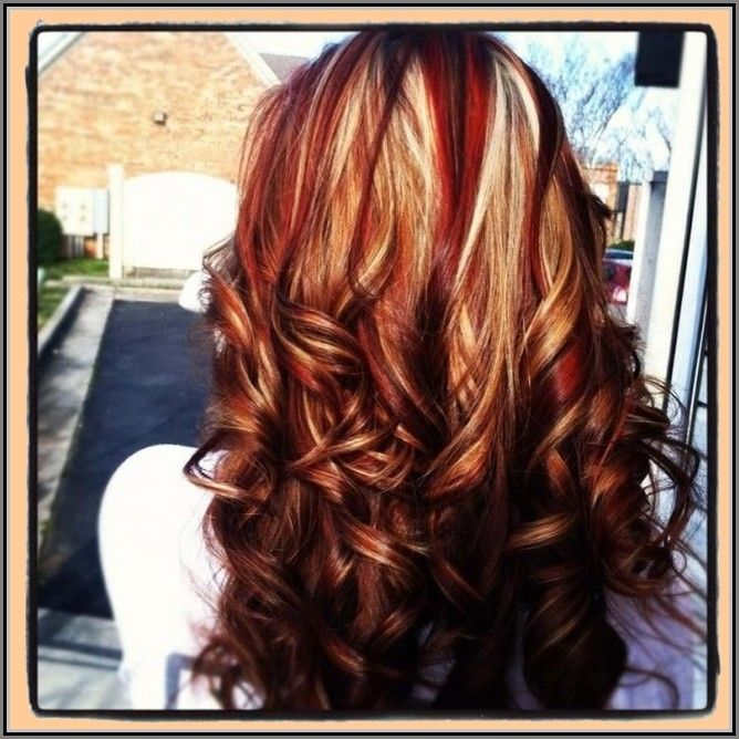 Red Hair With Highlights And Lowlights Google Search Brown Blonde Hair Hair Styles Red Hair With Blonde Highlights
