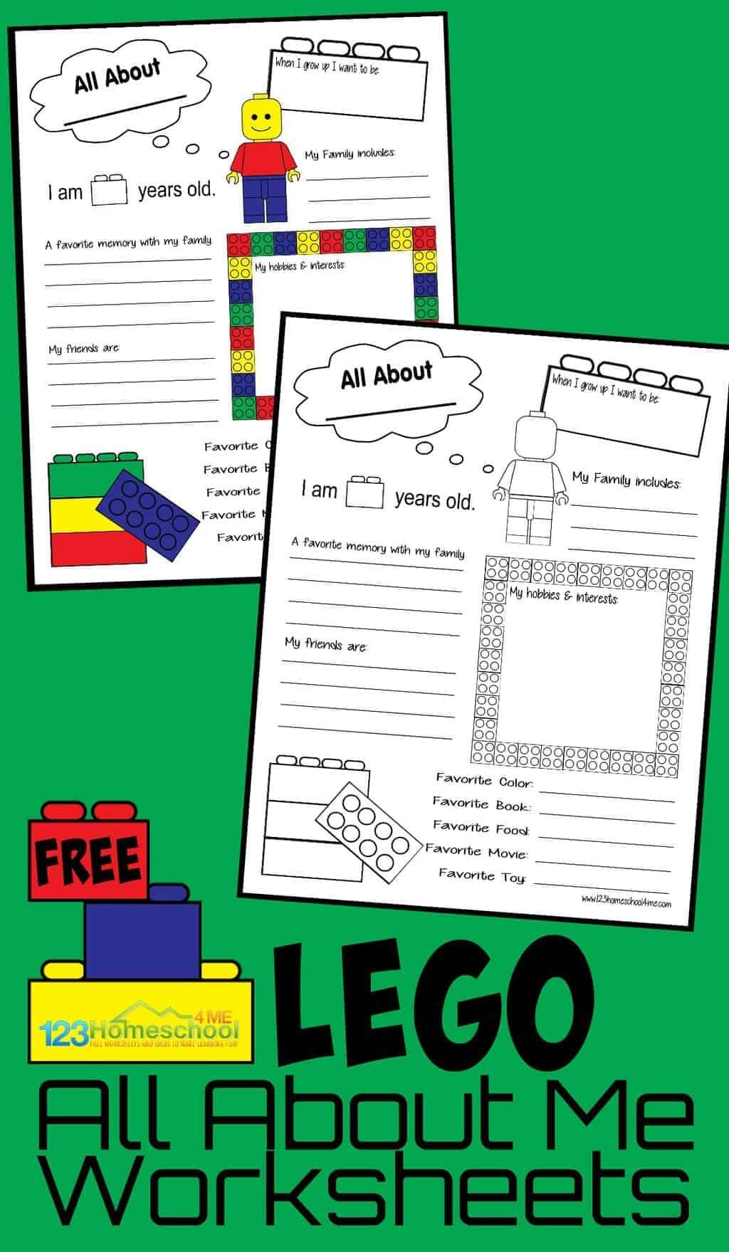 Lego All About Me Printable In