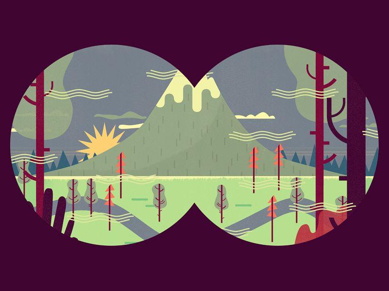 Binoculars | Colors | Pinterest | Ilustraciones, Vistas y Inspiración