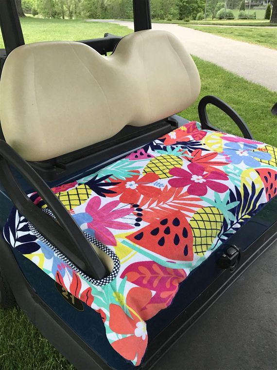 Tropical FeverTerry Golf Cart Seat Cover Is Made 2 Layers Of Quality Terry Cloth Reverses
