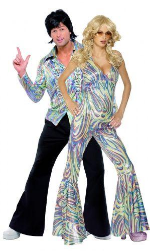 Costume coppia disco anni 70 per adulti nel 2019  143ceba3d0d