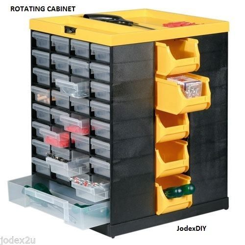 Table Top Rotating Small Parts Drawer Amp Storage Bins Box