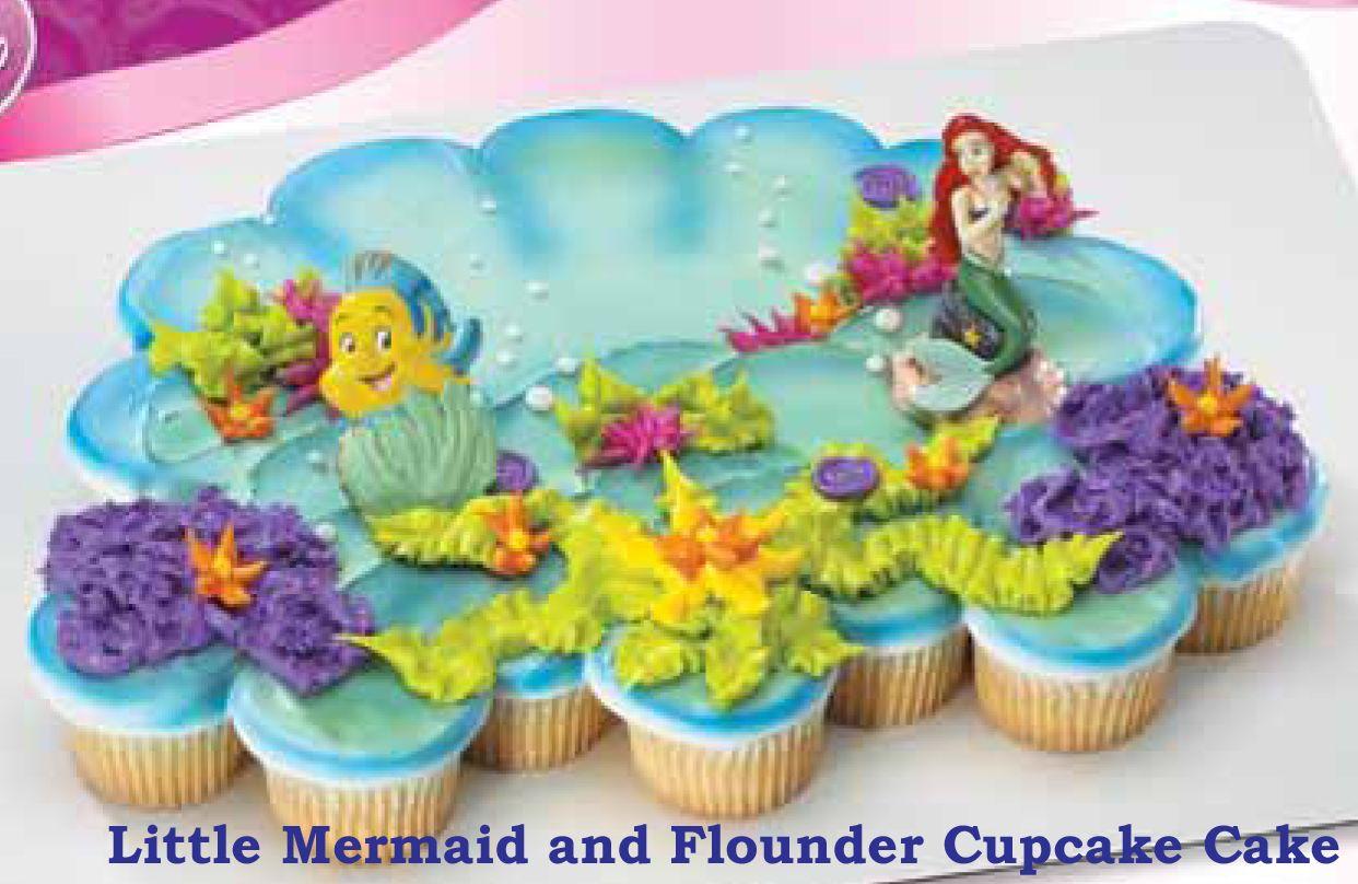 Little Mermaid Cupcake Cake D Composiciones Mermaid