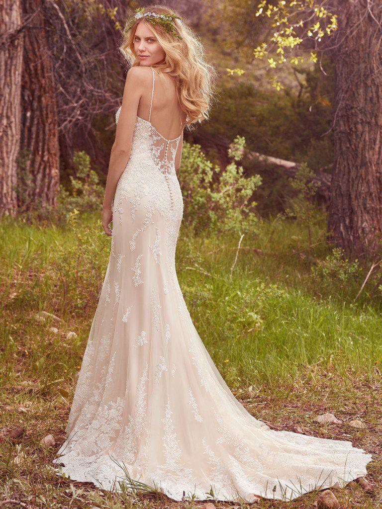 aa2dd04c17 Maggie sottero wedding dress nashville bride in cowboy boots