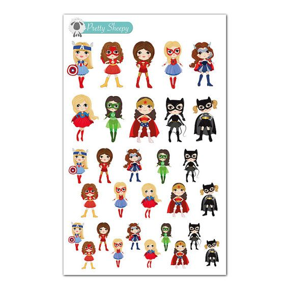 Superhero Girls Stickers