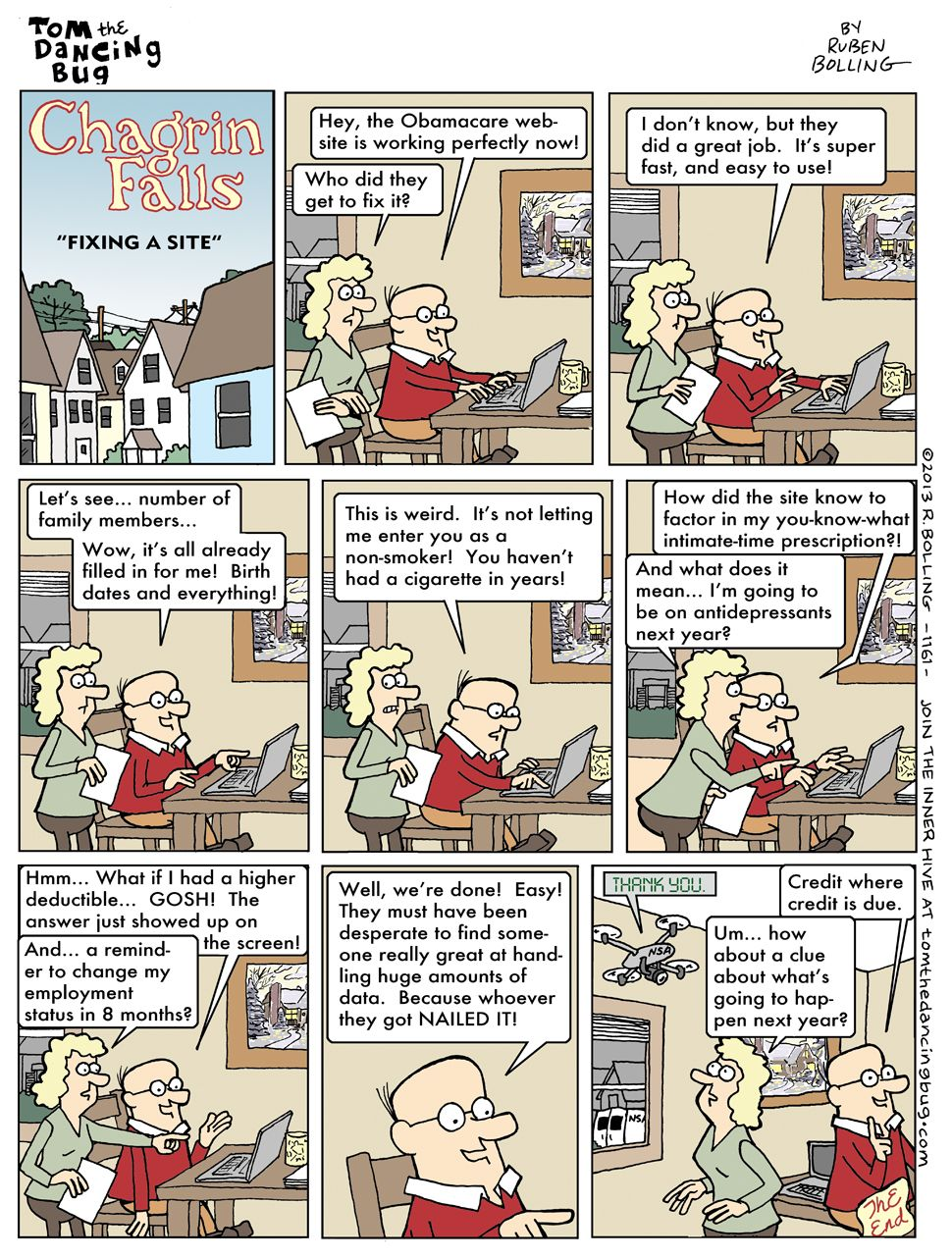 TOM THE DANCING BUG: How They Finally Fixed the Obamacare Website... - Boing Boing