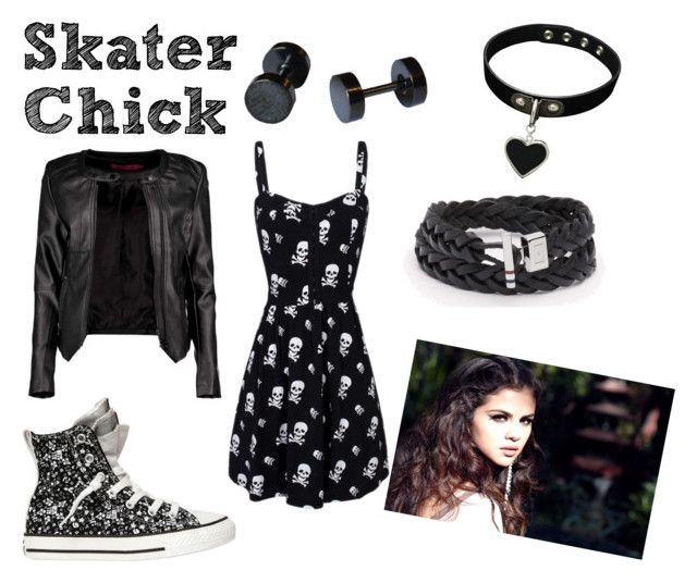 """""""Skater Chick"""" by thelazysaber on Polyvore featuring Converse, Boohoo and Mariah Carey"""