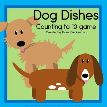 Dog Dishes Counting To 10 Game Preschool Games Cute Dogs Dog