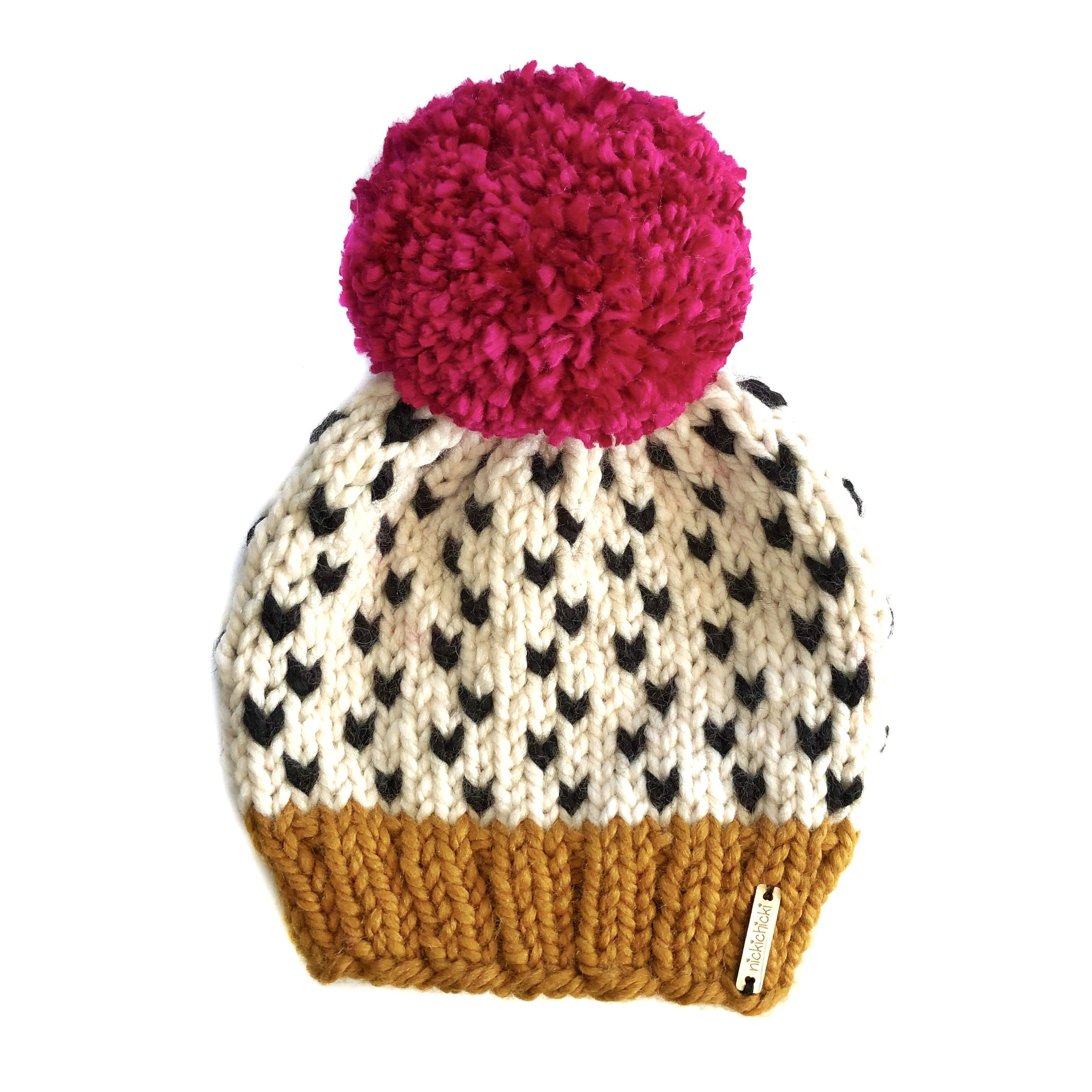 Tiny Hearts Pom-Pom Beanie in What's Up, Buttercup?