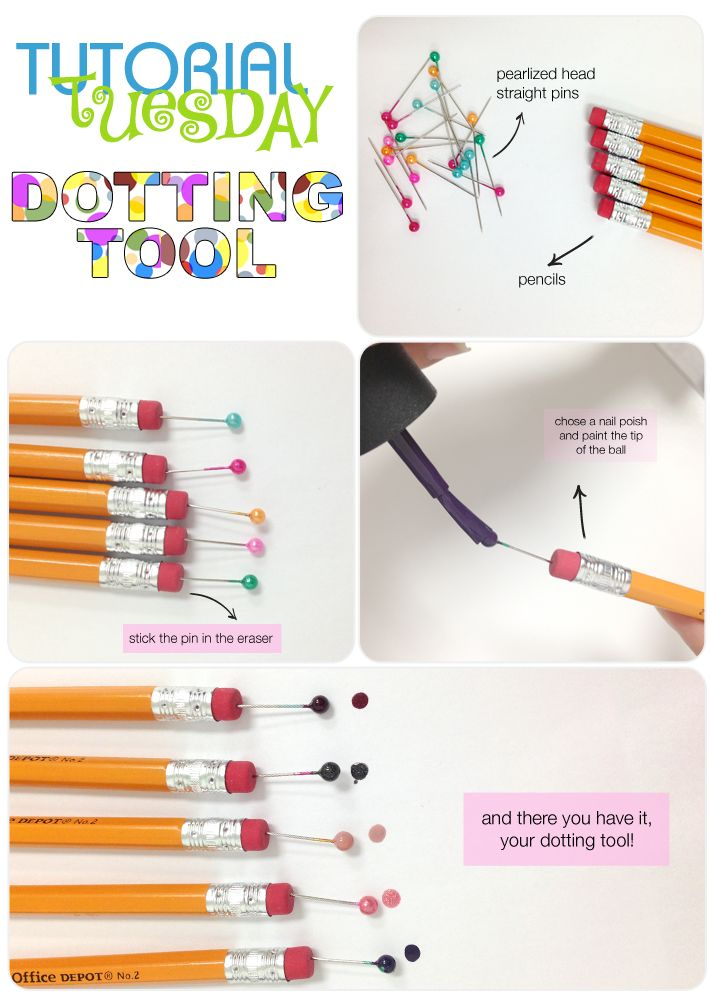 Ever wonder how to create flawless nail art? Most use a dotting tool - here is how to make one yourself with supplies you already have at home! #diy #nailart
