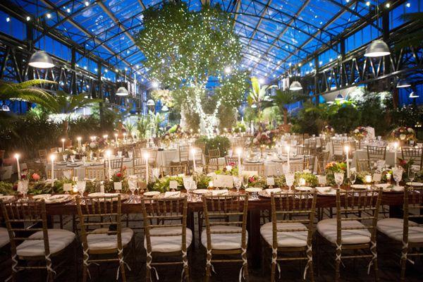 Botanical Garden Wedding With Glass Ceilings W