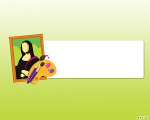 Free art powerpoint template with green background and mona lisa free art powerpoint template with green background and mona lisa artwork from leonardo davinci toneelgroepblik Image collections