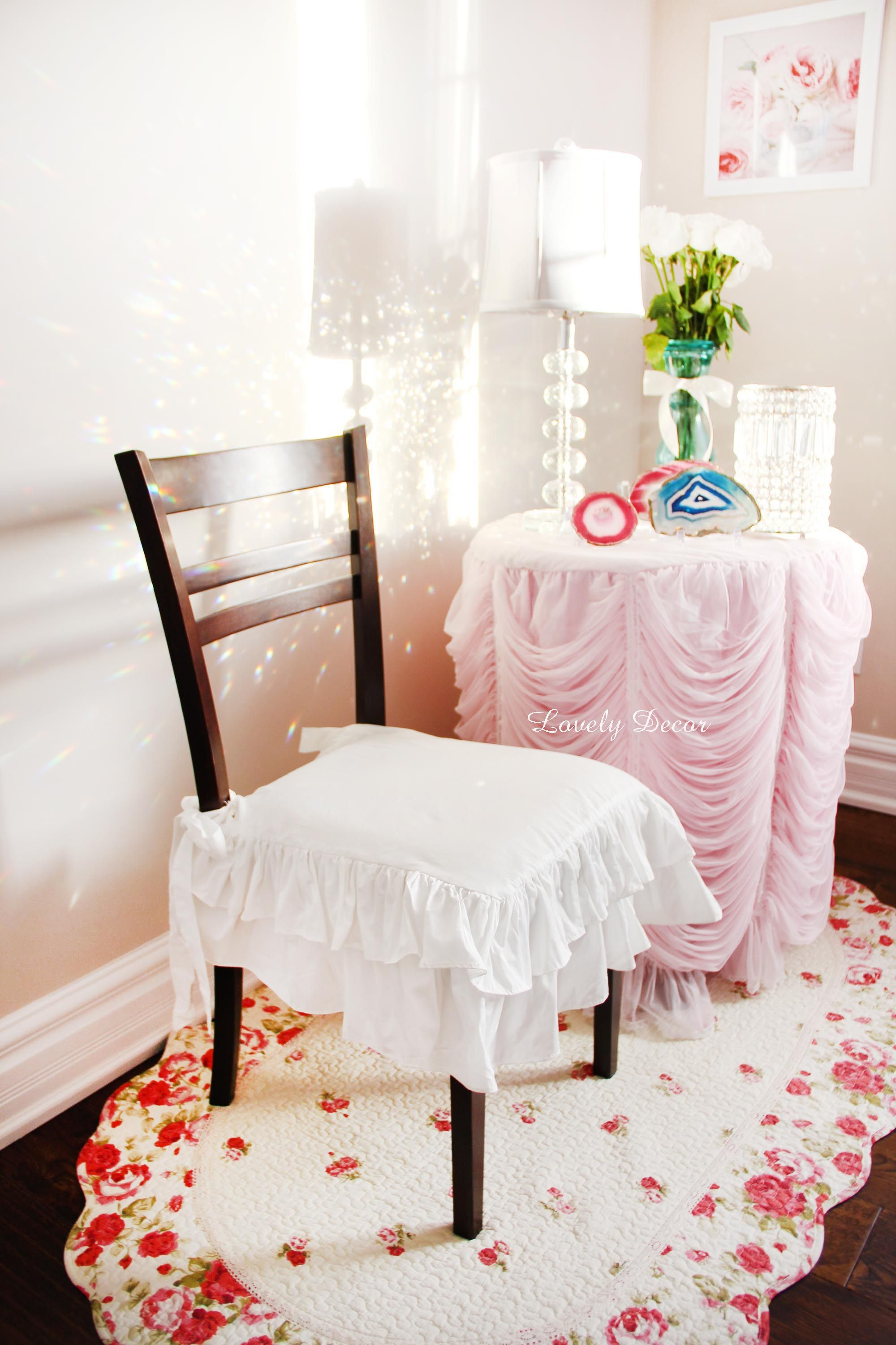 Cottage Chair Cover Shabby chic chairs, White armchair