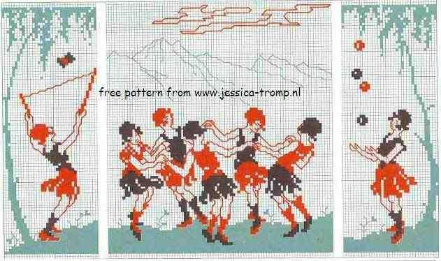 Verbazingwekkend dmc cross stitch patterns D.M.C. borduurpatronen DX-16