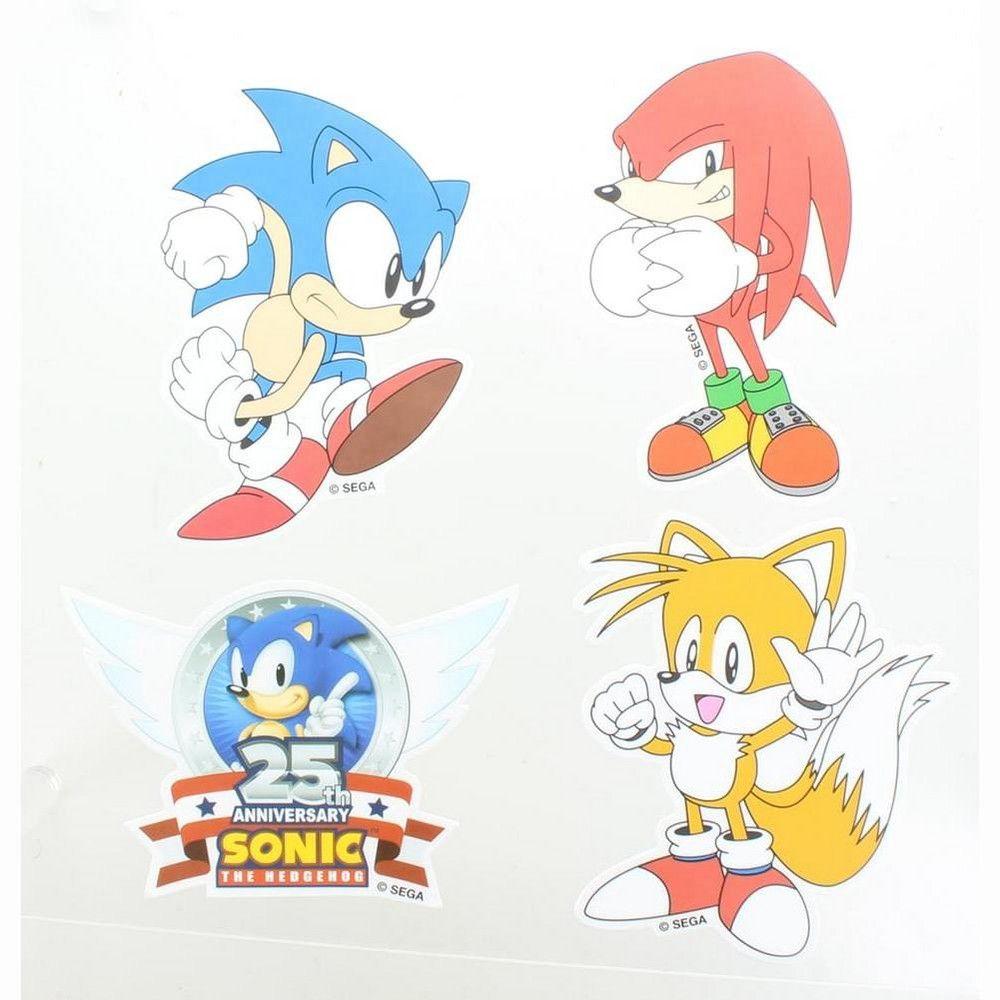 Nerd Block Sonic the Hedgehog Vinyl Stickers, Set of 4