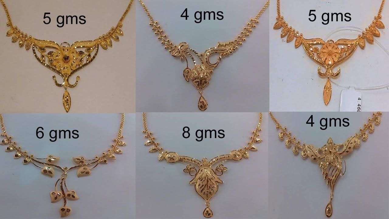 Latest Gold Necklace For Women Under 10 Grams Gold Necklace Designs With Weight Today Fashion Dressed To Excite Gold Necklace Designs Gold Necklace Gold Jewelry Sets