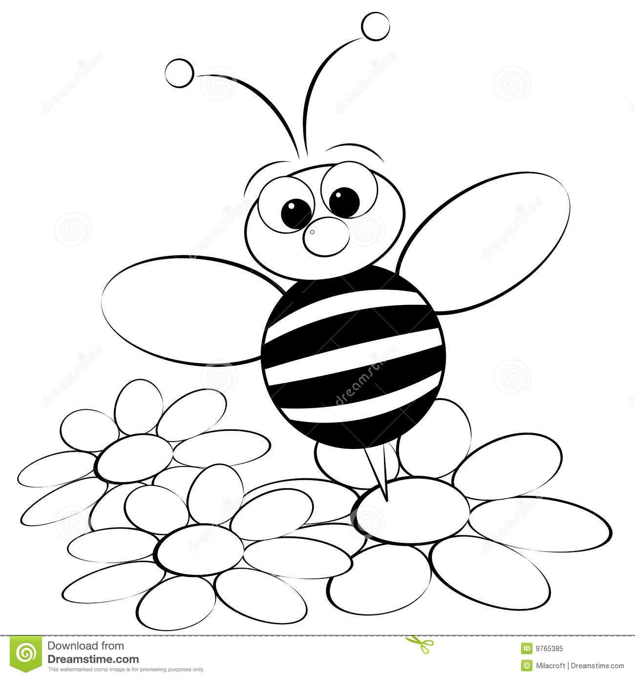 Free Download Bumble Bee Coloring Page Free Download