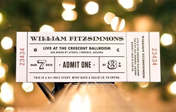 20 Creative Ticket Designs That Make Great Mementos Ziyaret - concert tickets design