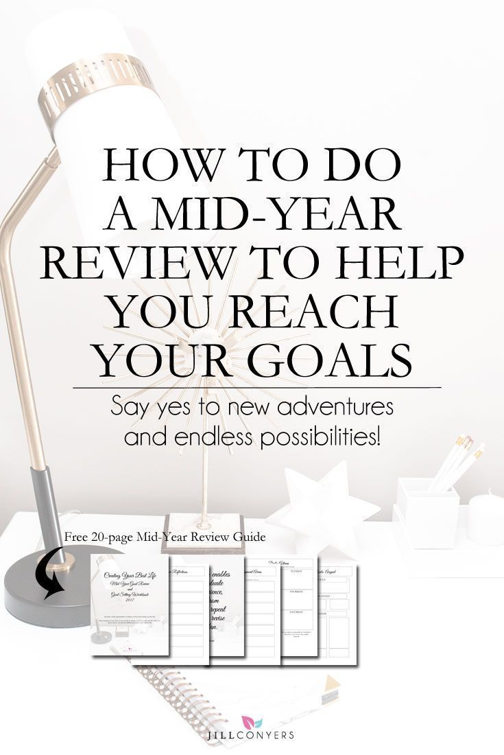 How To Do a Mid-Year Review To Reach Your Goals How to plan for success and growth with a mid-year goal review. A key to setting goals and accomplishing them is ensuring they're linked to your purpose, priorities and passions. Goals change over time - priorities change. Click through to download the FREE Mid-Year Goal Review guide. Pin it now, share it with your friends.