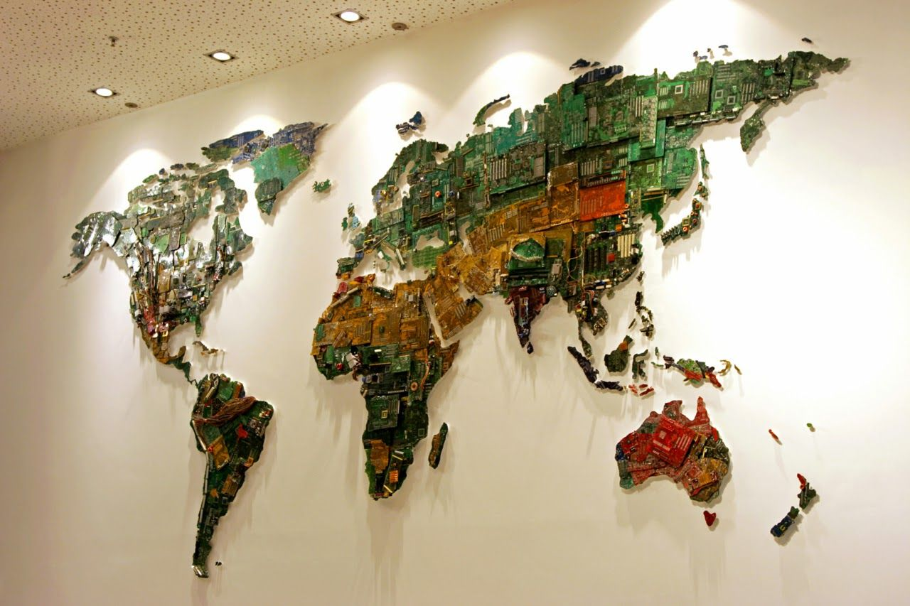 Creative Variants Of The World Map Curiosities Pinterest Creative - 3d world map wall art