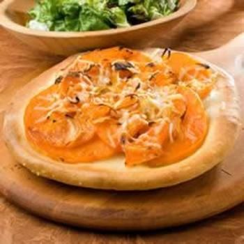 Try with the Cauliflower Pizza Crust...Butternut Squash Pizzas with Rosemary