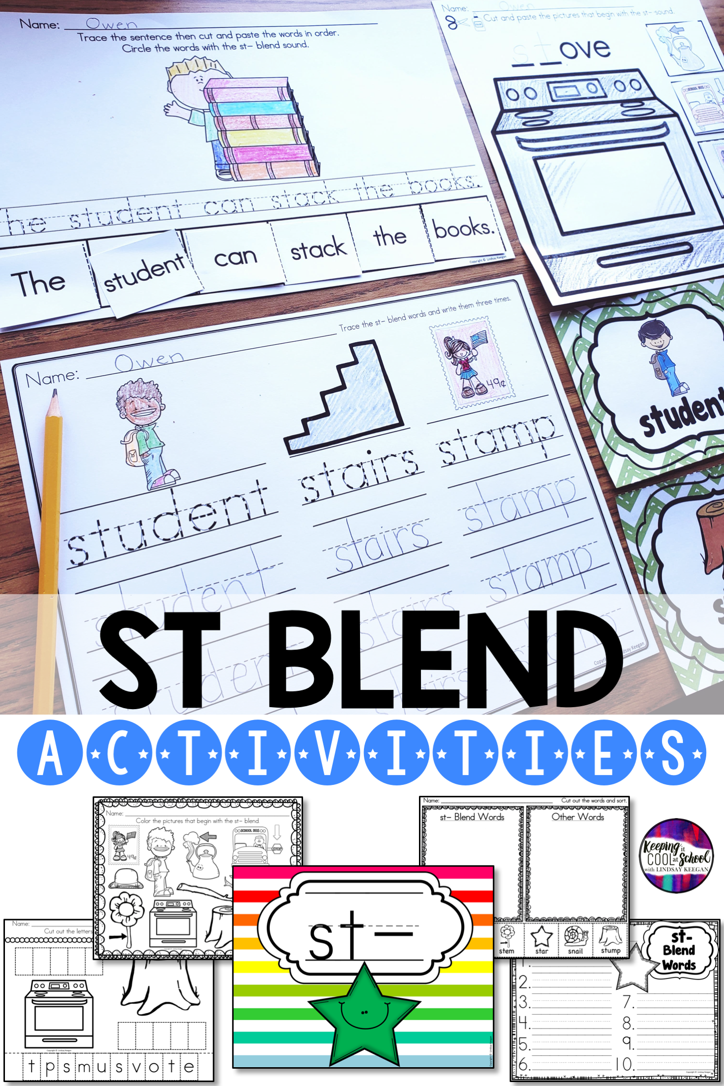 St Blend Worksheets In With Images