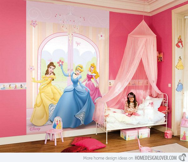 15 pretty and enchanting girls themed bedroom designs - Disney Bedroom Designs