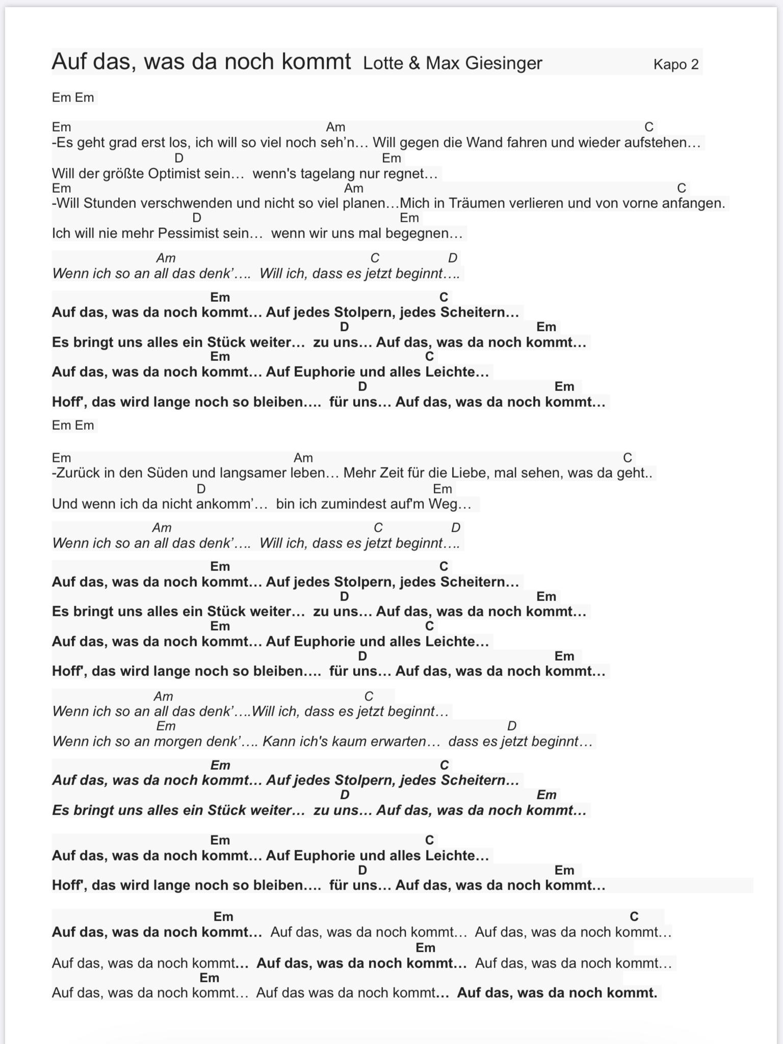 Songtext Max Giesinger