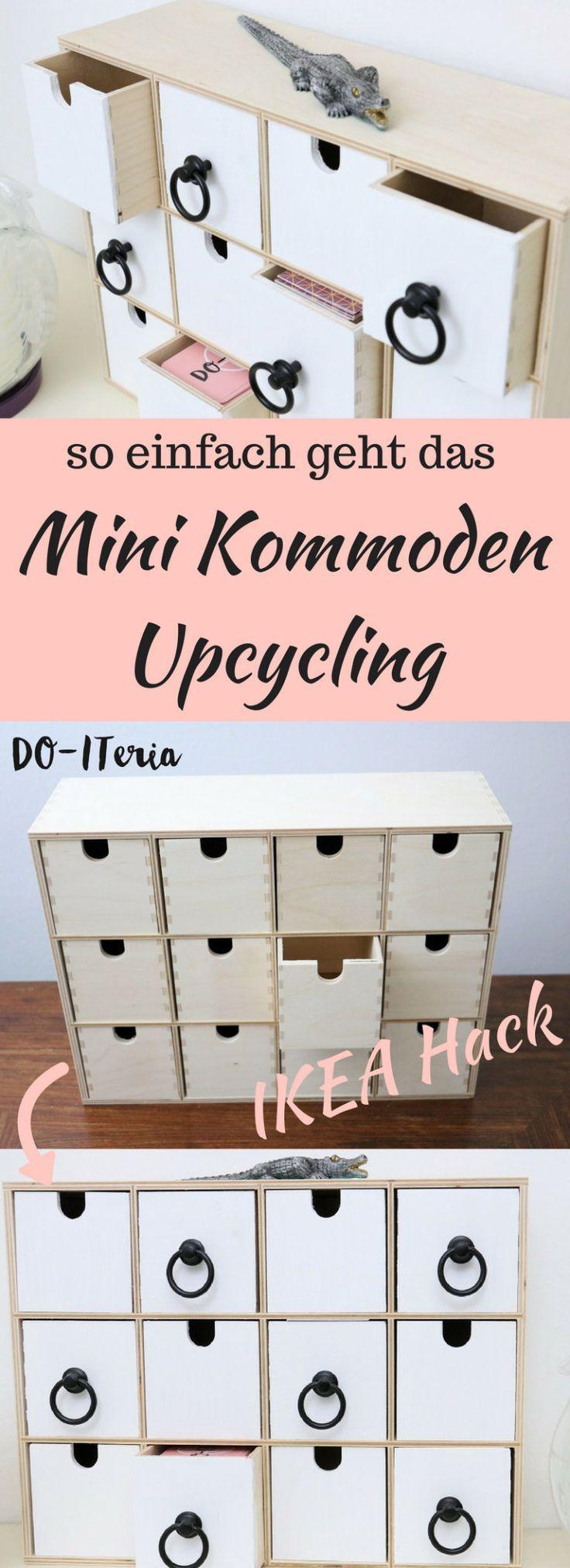 ikea hack schickes upcycling einer mini kommode ideas. Black Bedroom Furniture Sets. Home Design Ideas