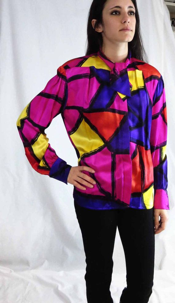 309e640402270 Vintage Thierry Mugler Silk Blouse