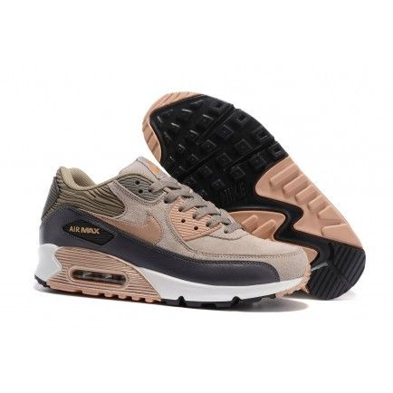 Nike Air Max 90 Grey Bronze Trainers Brown Rose Gold White