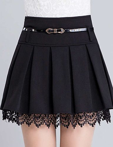 Mini Skirt | Polyester-Micro-elastisch-Casual